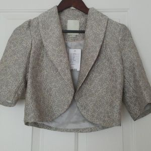 Never worn silver cropped blazer